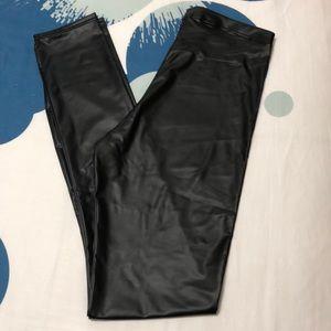 H&M leather look leggings